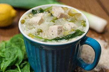 Lemon Chicken Rice Soup, Lunch, Portland Oregon